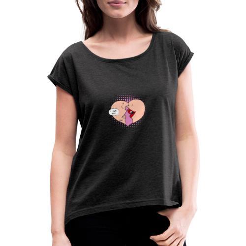 Je t'aime - T-shirt à manches retroussées Femme