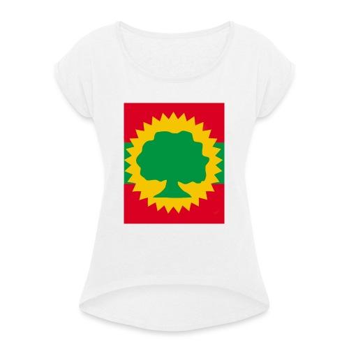 Oromo people - T-shirt med upprullade ärmar dam