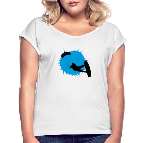 Kitesurf - Camiseta con manga enrollada mujer