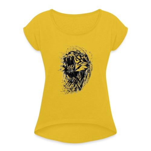 villikissa kuva - Naisten T-paita, jossa rullatut hihat