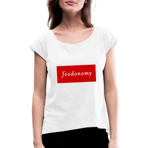 Foodonomy Logo - Maglietta da donna con risvolti