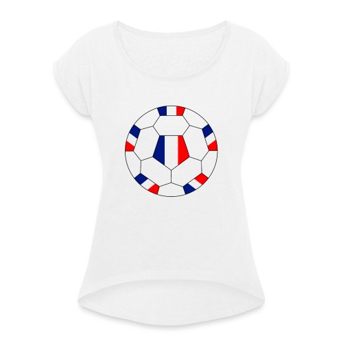 Frankreich Fußball - Frauen T-Shirt mit gerollten Ärmeln