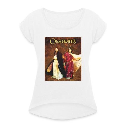 Okzitanis - Frauen T-Shirt mit gerollten Ärmeln