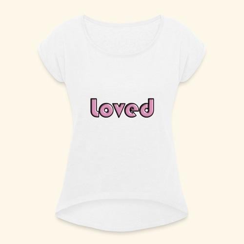 loved - Maglietta da donna con risvolti