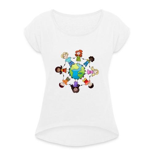 Save the planet - Camiseta con manga enrollada mujer