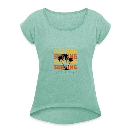 Design 134 - T-shirt à manches retroussées Femme