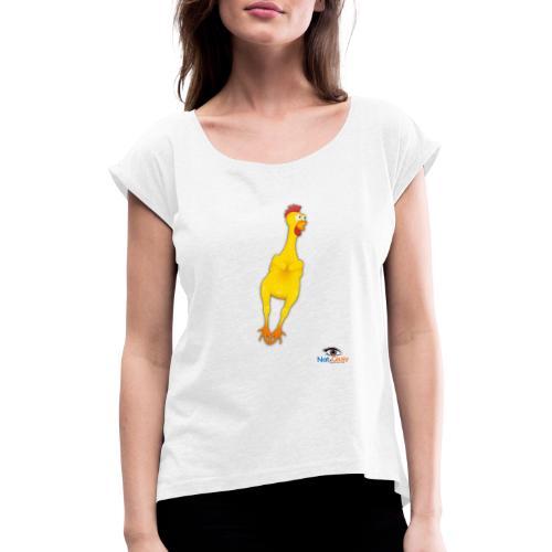 Il Pollo di Nat e Giusy - Maglietta da donna con risvolti