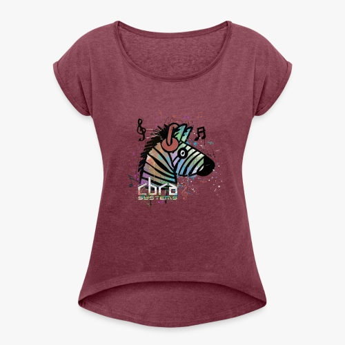 color designer cbra 3 - Women's T-Shirt with rolled up sleeves