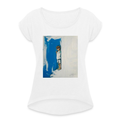 THE CHOICE - Koszulka damska z lekko podwiniętymi rękawami