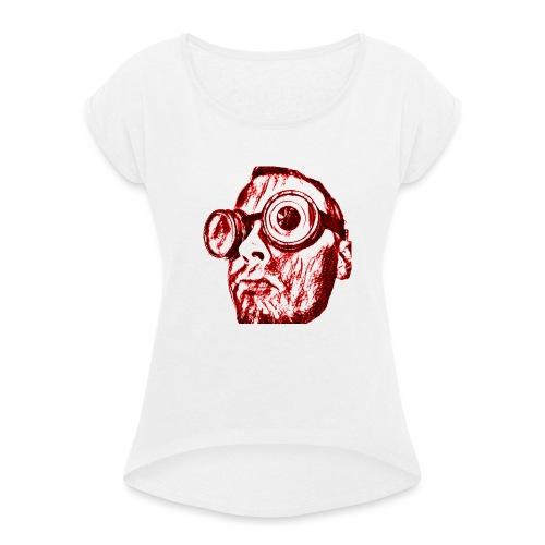 Face Tegner Red Grande - Dame T-shirt med rulleærmer