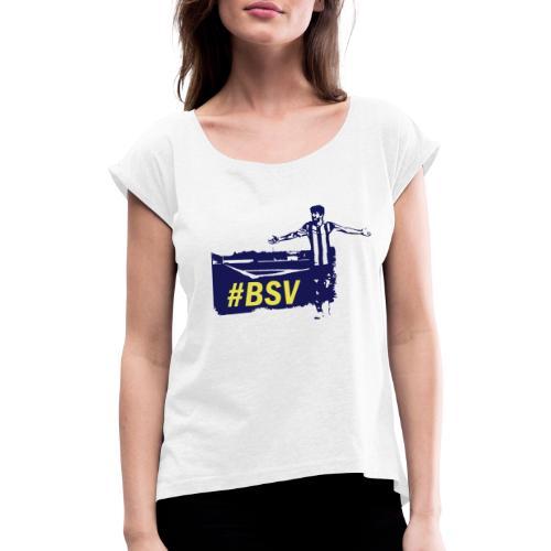 Unsere Heimat - Frauen T-Shirt mit gerollten Ärmeln