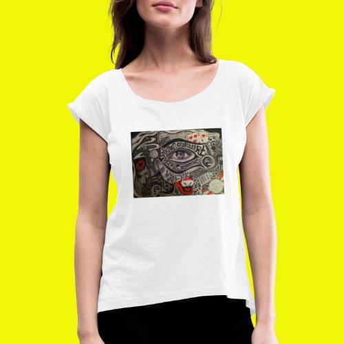 Eyes - T-shirt à manches retroussées Femme