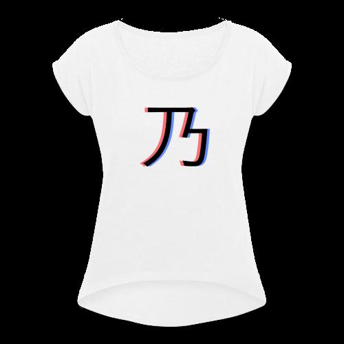 3D Logo - Dame T-shirt med rulleærmer