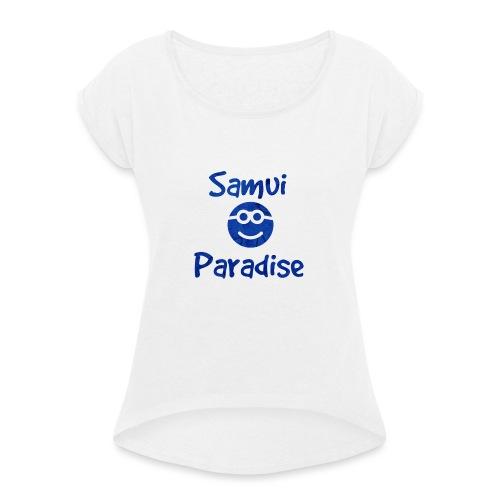 Logopit 1522632705799 1 - T-shirt à manches retroussées Femme
