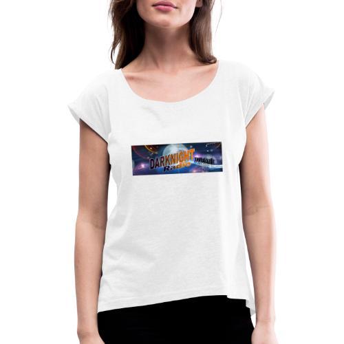 Darknightradio logo - Maglietta da donna con risvolti