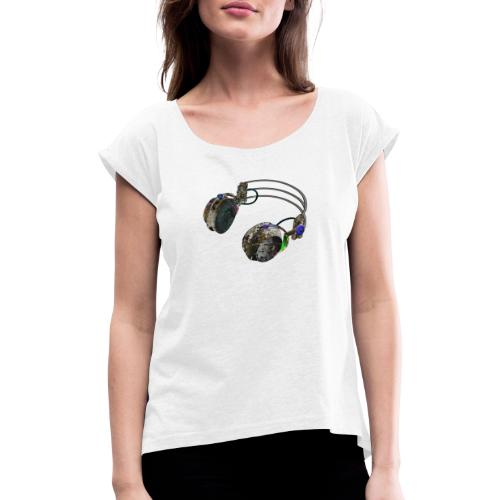 Dj music fashion - Women's T-Shirt with rolled up sleeves