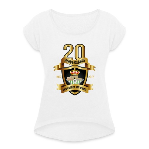 Camiseta Escudo 20 Aniversario - Camiseta con manga enrollada mujer
