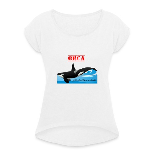 Orca La Balena Assassina Maglietta Uomo Donna 2018 - Maglietta da donna con risvolti