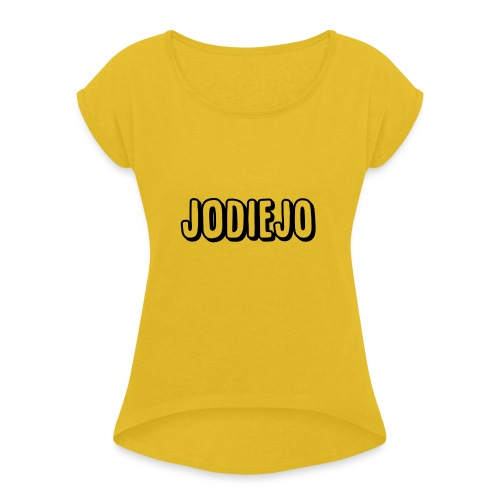 Jodiejo - Vrouwen T-shirt met opgerolde mouwen