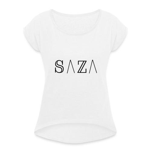 SAZA - Vrouwen T-shirt met opgerolde mouwen