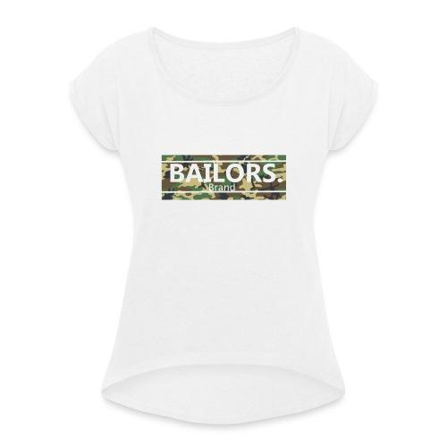 Bailors. camo pattern - Vrouwen T-shirt met opgerolde mouwen