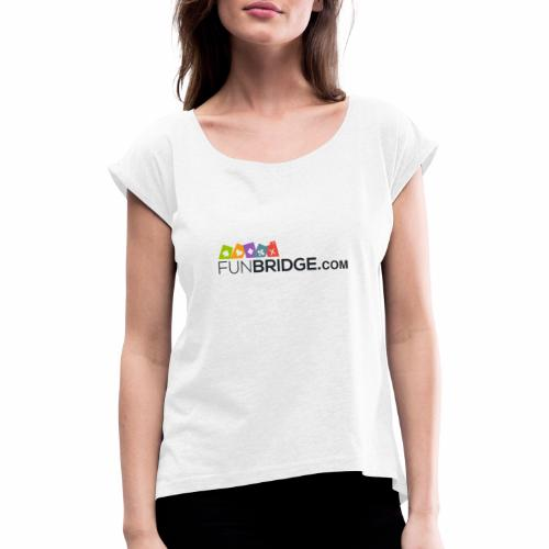 Funbridge logo - Women's T-Shirt with rolled up sleeves