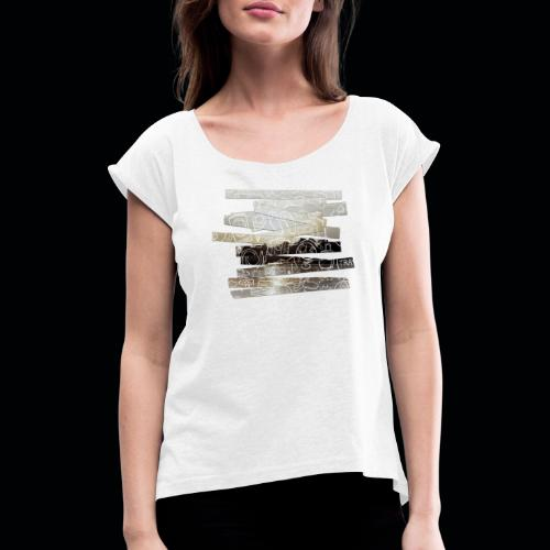 TRAVEL SO LONG YOU CAN - Frauen T-Shirt mit gerollten Ärmeln