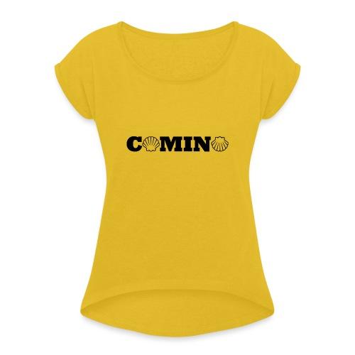 Camino - Dame T-shirt med rulleærmer