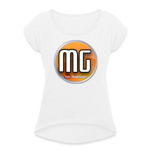 muddy gamer branding - Women's T-Shirt with rolled up sleeves