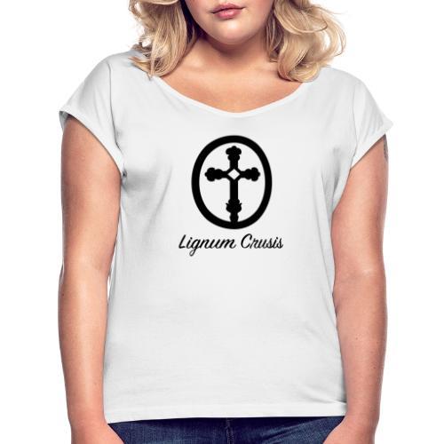 Lignum Crusis - Camiseta con manga enrollada mujer
