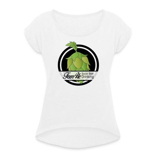 FemAle logo svart 01 png - T-shirt med upprullade ärmar dam