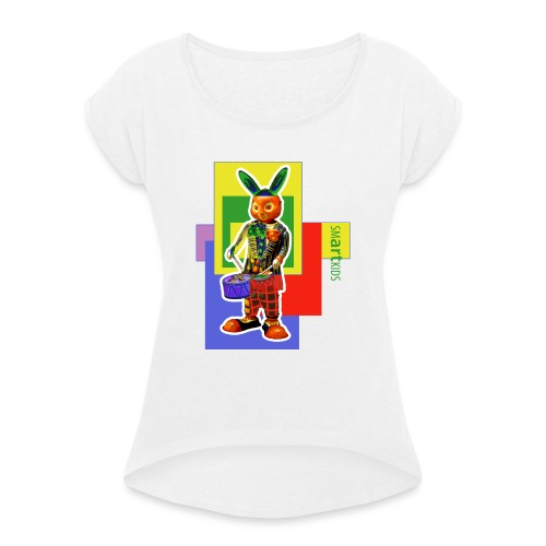 smARTkids - Slammin' Rabbit - Women's T-Shirt with rolled up sleeves