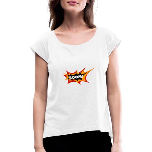 boom - Camiseta con manga enrollada mujer