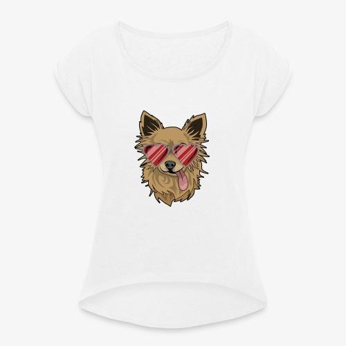 Cool Engla - T-shirt med upprullade ärmar dam