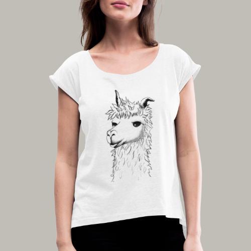 Lama - T-shirt à manches retroussées Femme