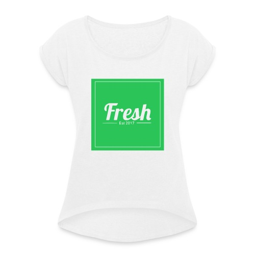 Green square - Women's T-Shirt with rolled up sleeves