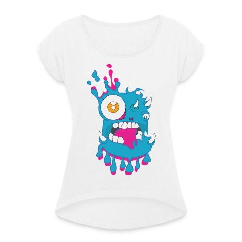 Monster Splash - T-shirt à manches retroussées Femme