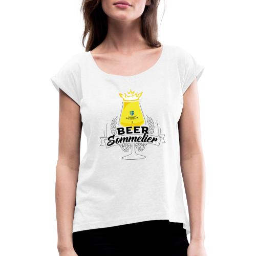 Swedish Beer Sommelier - Chalice - T-shirt med upprullade ärmar dam