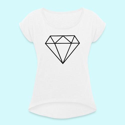 Diamant 5 - Frauen T-Shirt mit gerollten Ärmeln