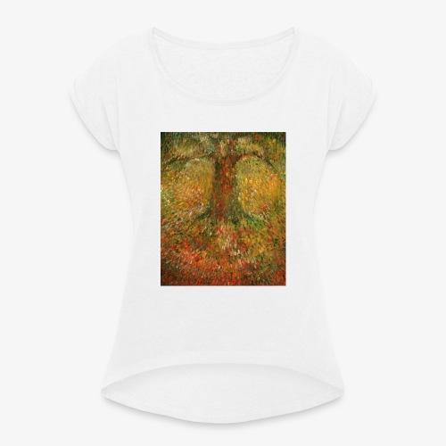 Invisible Tree - Koszulka damska z lekko podwiniętymi rękawami
