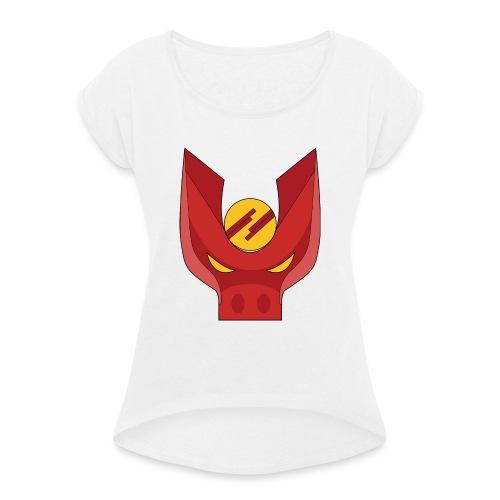 Logo_Oyol - T-shirt à manches retroussées Femme