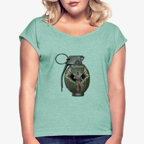 grenadearma3 png - Women's T-Shirt with rolled up sleeves