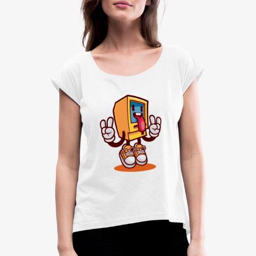 Cool robot - Camiseta con manga enrollada mujer