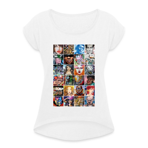 Graffiti Characters Design - T-shirt à manches retroussées Femme