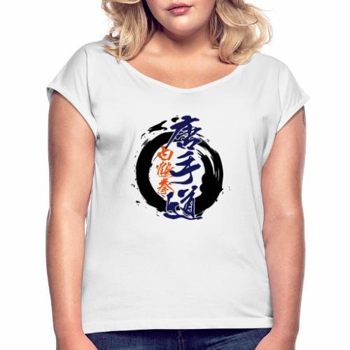 enso karatedo - Frauen T-Shirt mit gerollten Ärmeln