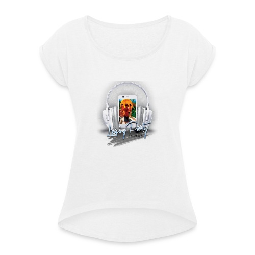 Untitled-2-png - Women's T-Shirt with rolled up sleeves