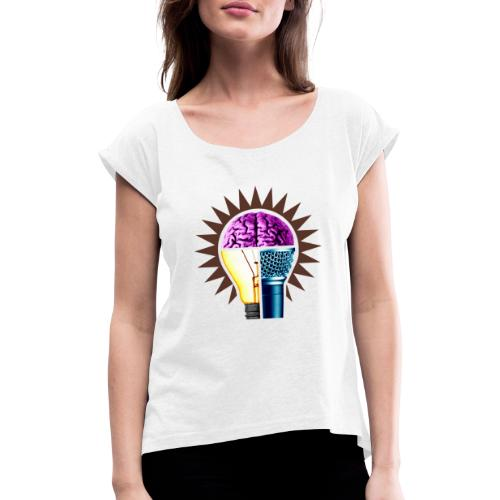 YLYTR - T-shirt med upprullade ärmar dam