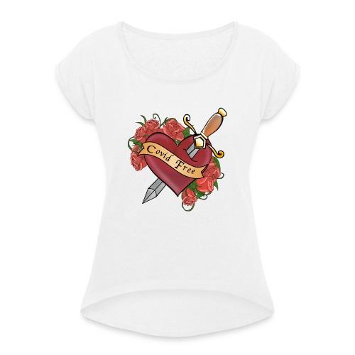 Covid FREE - Maglietta da donna con risvolti