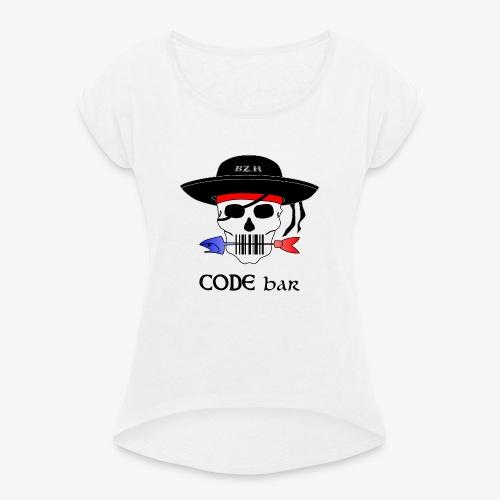 Code Bar couleur - T-shirt à manches retroussées Femme