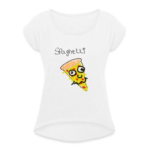 spaghetti - Vrouwen T-shirt met opgerolde mouwen